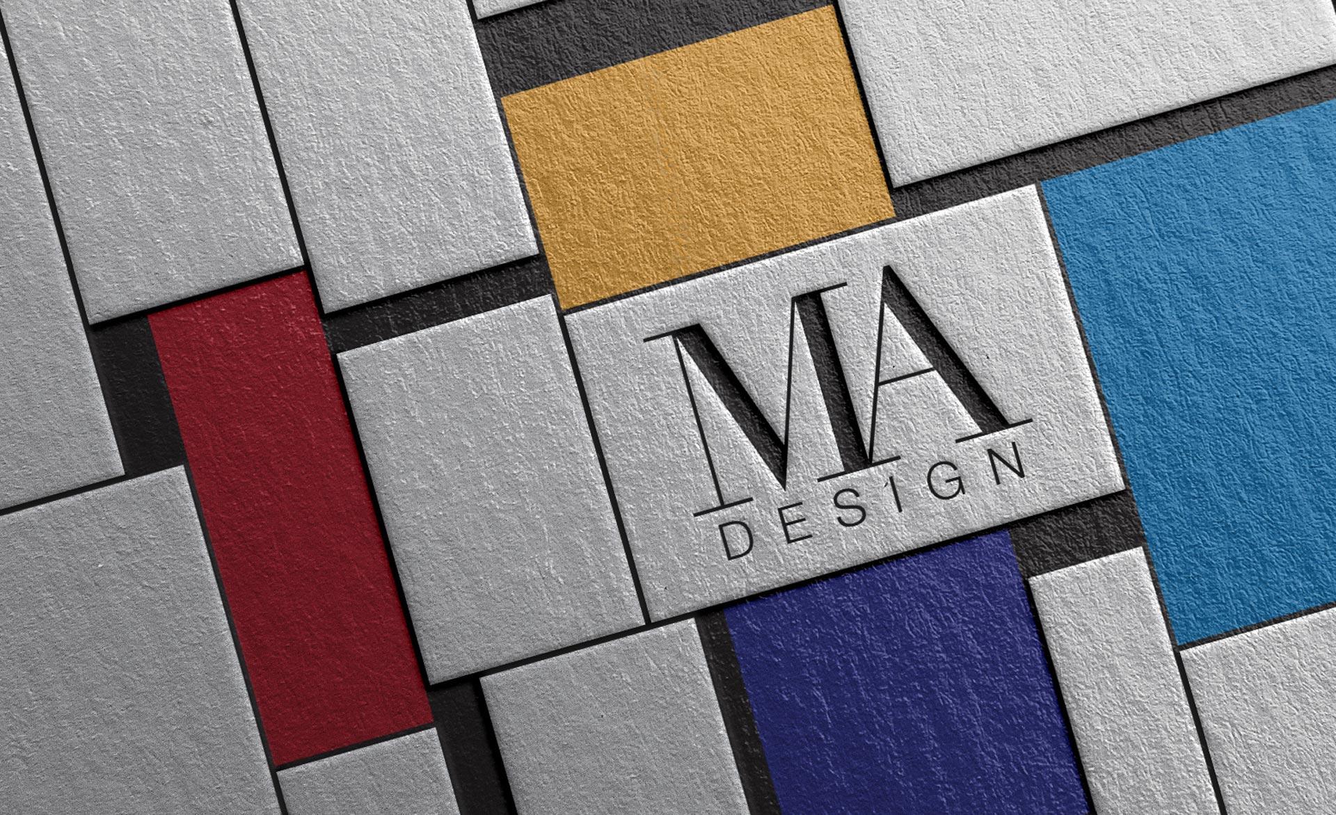 Grafična podoba MAdesign — navdih je Mondrian